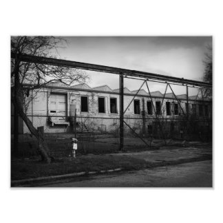 old abandoned building in Niles Michigan keep out Photo Print