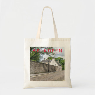 Old Aberdeen cobbled street tote bag
