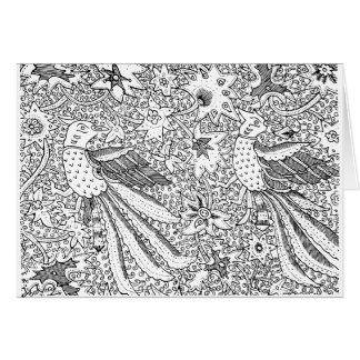 Old Abstract Textile Nature Pattern Card