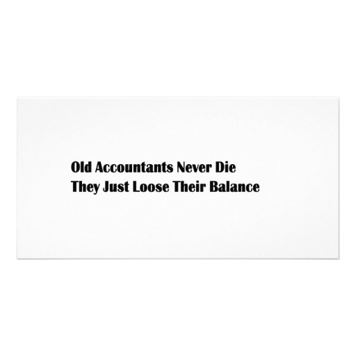 Old Accountants Personalized Photo Card