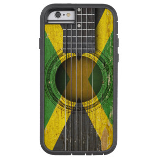 Old Acoustic Guitar with Jamaican Flag Tough Xtreme iPhone 6 Case
