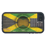 Old Acoustic Guitar with Jamaican Flag iPhone 5/5S Covers