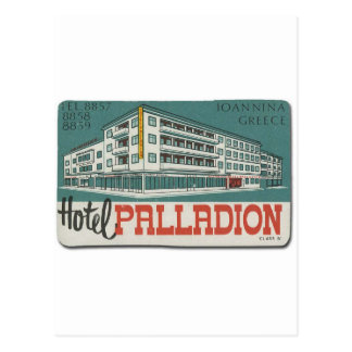 Old Advert Greece Ioannina Hotel Palladion Postcard