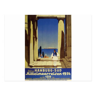 Old Advert Humburg Greece Postcard