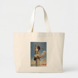 Old Advert TWA Greece Jumbo Tote Bag