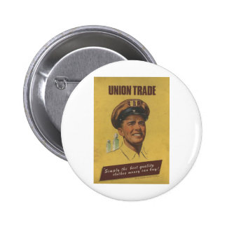 Old Advert Union Trade Clothes Button