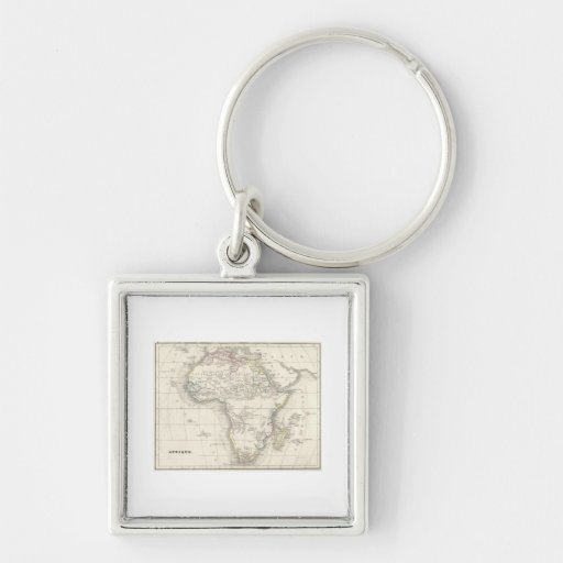 OLD AFRICA MAPS KEYCHAIN