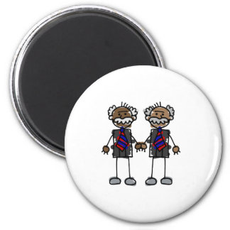 Old African Couple 6 Cm Round Magnet