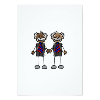 "Old African Couple 5"" X 7"" Invitation Card"