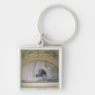 Old Age, from The Three Ages of Man, 1887 Silver-Colored Square Key Ring