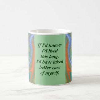 old age joke classic white coffee mug