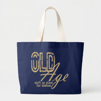 Old Age - Jumbo Tote Bags