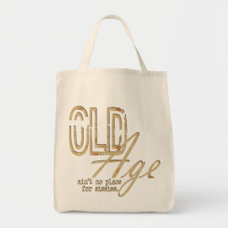 Old Age - Organic Grocery Tote Grocery Tote Bag