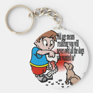 Old Age, Retirement Basic Round Button Key Ring