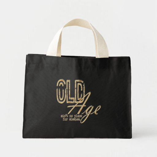 Old Age - Tiny Tote Canvas Bag