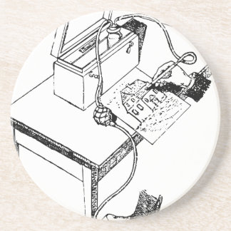 Old Airbrush Coaster