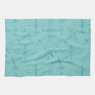 Old airplanes towel