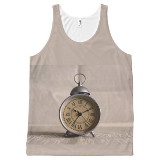 Old Alarm Clock All-Over Print Singlet