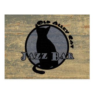 Old Alley Cat Jazz Bar Postcard