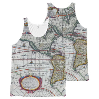 Old America Maps All-Over Print Singlet