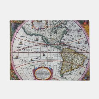 Old America Maps Doormat