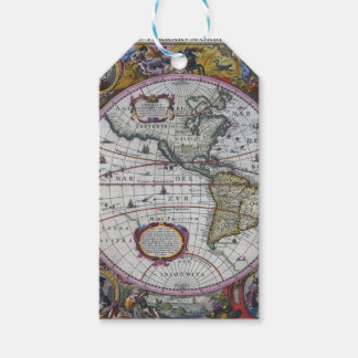 Old America Maps Gift Tags