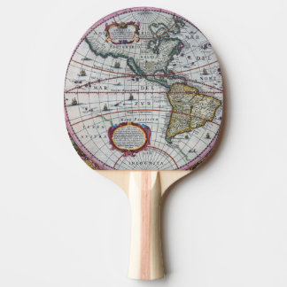 Old America Maps Ping Pong Paddle