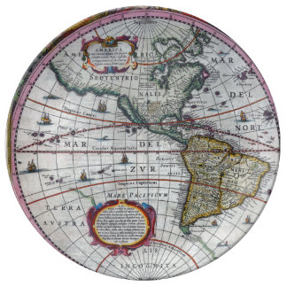 Old America Maps Plate