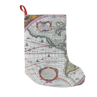 Old America Maps Small Christmas Stocking