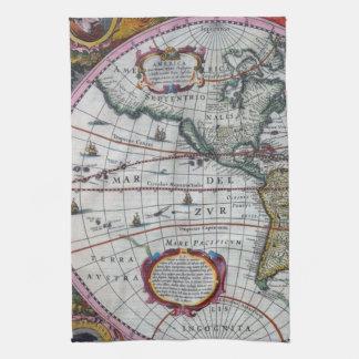 Old America Maps Tea Towel