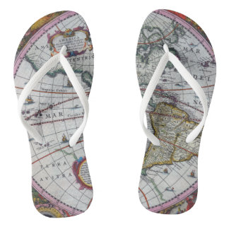 Old America Maps Thongs