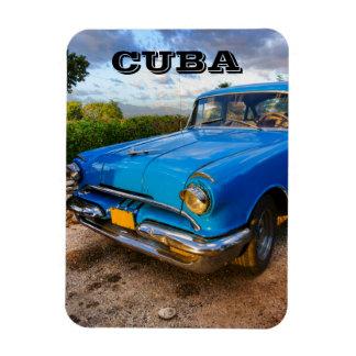 Old American classic car in Trinidad, Cuba Magnet