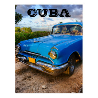 Old American classic car in Trinidad, Cuba Postcard