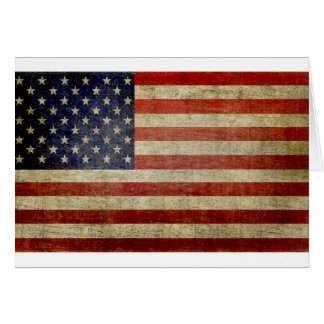 Old American Flag Greeting Card