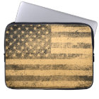 Old American Flag Grunge Laptop Sleeve