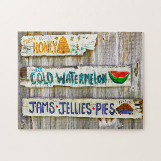Old American Vintage Signs. Jigsaw Puzzle