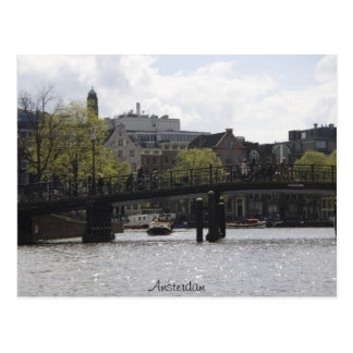 Old Amsterdam Bridge Postcard