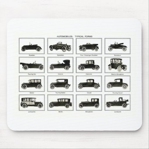 Old and classic car (retro auto): Vintage Cars Mousepads