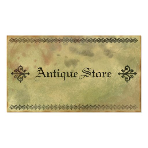 Old and Grungy Antique Vintage Business Card