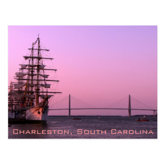 Old and the New in Charleston Postcard