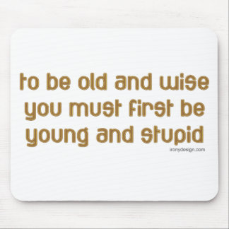 Old and Wise Mouse Pad