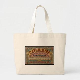 Old announcement canvas bag