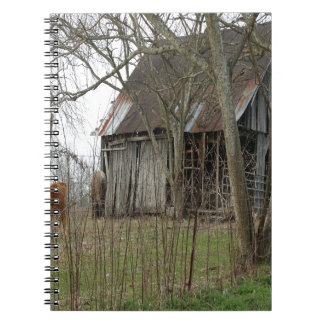 Old Antique Barn Spiral Note Book