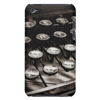 Old Antique Typewriter Keys Black White iPod Touch Cover