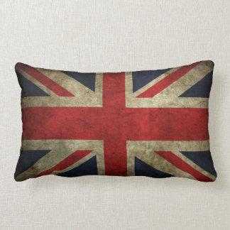 Old Antique UK British Union Jack Flag Pillow Cushion