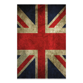 Old Antique UK British Union Jack Flag Stationery
