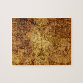 Old Antique World Map Historical Jigsaw Puzzle