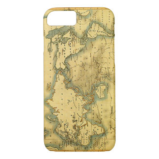 Old Antique World Map iPhone 7 Case