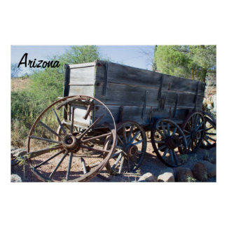 Old Arizona Wagon Poster