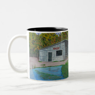Old Bait shack Two-Tone Coffee Mug